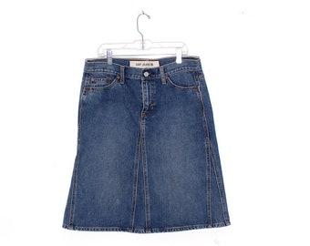 Lazy Oaf High Waisted Talbots Queen sz 18 light wash Mom jeans Vintage mini Skirt so-cal boho 90s y2k Plus Size Denim Womens Retro