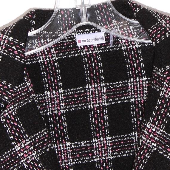 y2k 90s clueless PARIS BLAZER black and pink plai… - image 2