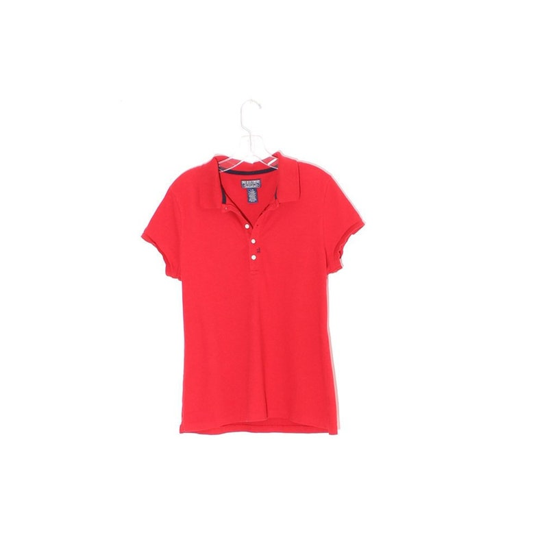 f04fe078a Vintage 90s RALPH LAUREN polo bright red preppy polo ralph