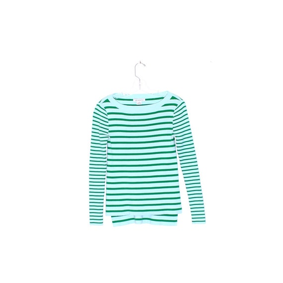 LIZ CLAIBORNE striped SWEATER ribbed knit sweater