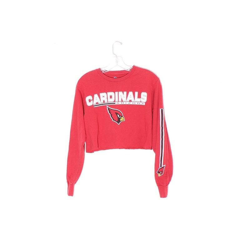 168c6854 90s CROP TOP sleeve print arizona cardinals football shirt long sleeve  shirt cropped shirt preppy sporty sports shirt tshirt t shirt tee