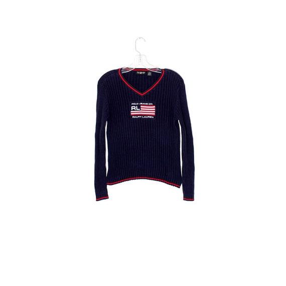 vintage des années 90 pull RALPH LAUREN polo jeans co drapeau   Etsy 38185a47f63