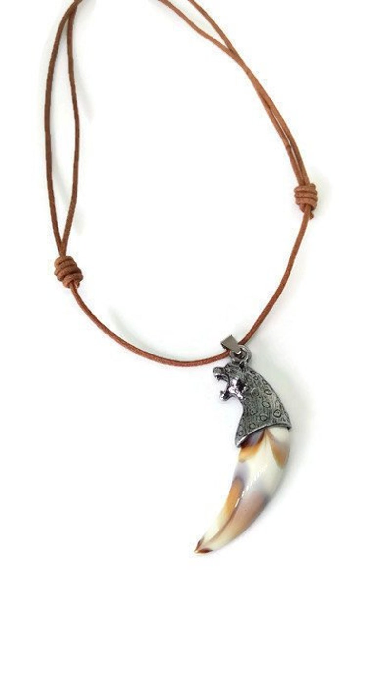 b61c9a92fc1ba Mens Necklaces, Wolf Tooth Necklace, Dragon Jewelry, Mens Gift Idea, Wolf,  Dragon, Cheetah, Lion, Elephant, Jewelry for Men, Stone