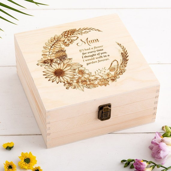 keepsake m Set of 3 decorative storage gift boxes floral hummingbird