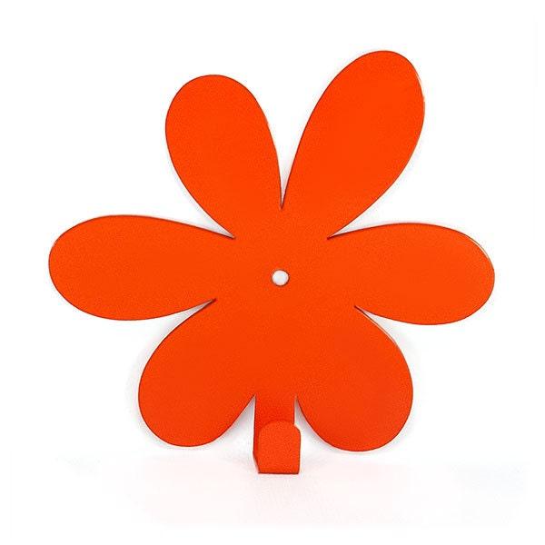porte manteau mural flower orange pat res moderne. Black Bedroom Furniture Sets. Home Design Ideas