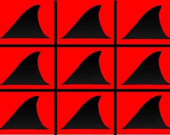 Non-Regular Tessellation 773: Shark Attack (# NRT_773_SP)