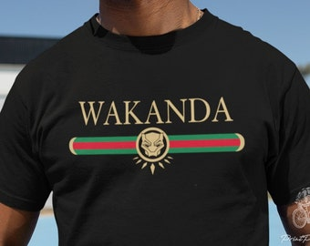 b19398685 Wakanda Forever Funny Black Panther T Shirt Tee | Men Women Unisex T shirts