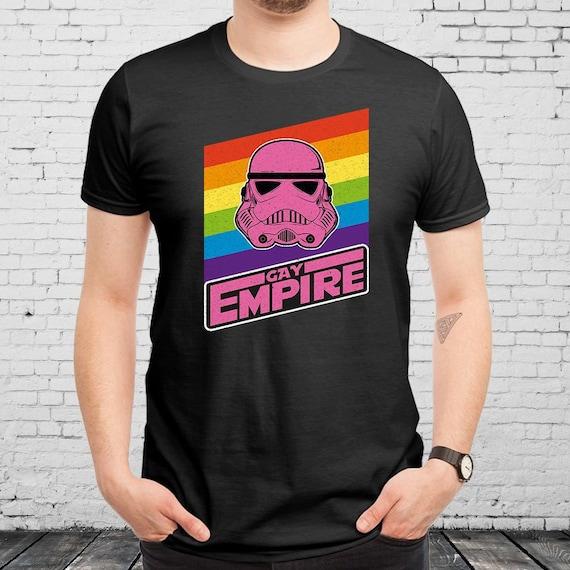 Star Wars Gay Empire LGBT Pride Falg Unisex T shirt Funny  2e44f193317d8