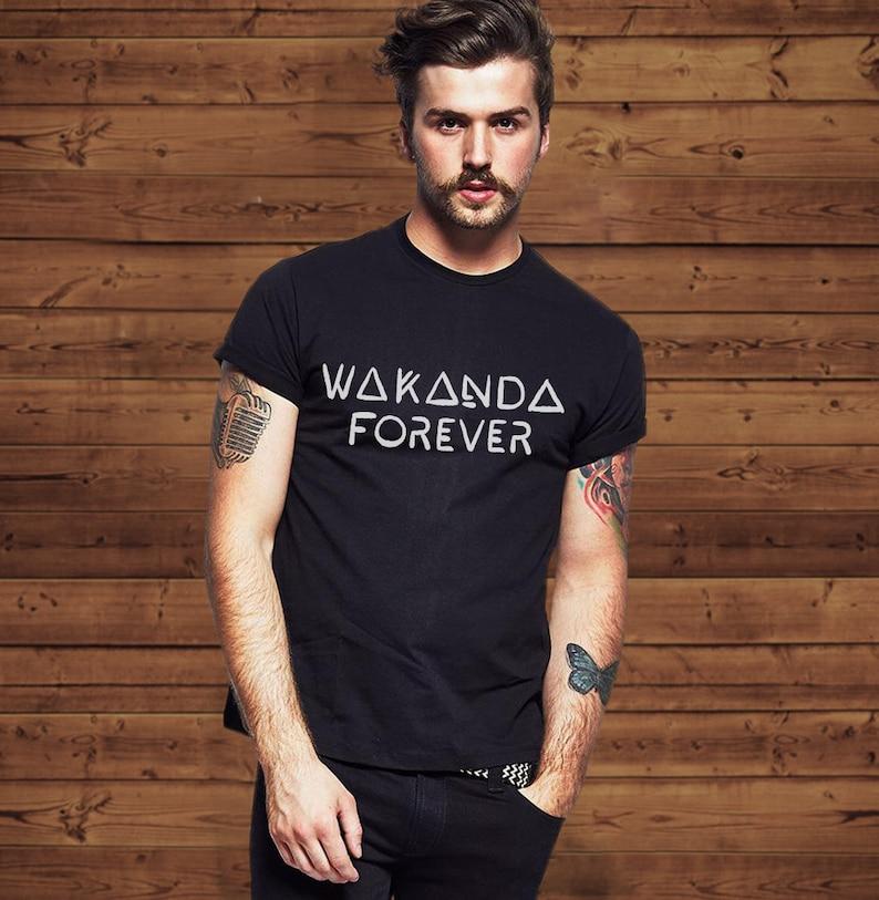 ca1c7bc2b Wakanda Forever Black Panther T Shirt Tee Men & Women T | Etsy