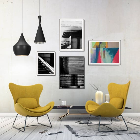 Industrial Living Room Decor Industrial Decor Style Gallery Wall Set Modern Geometric Wall Decor Abstract Printable Poster Set