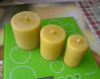 beeswax candles, beeswax votives, votive candles, candles votives, pillar candle, beeswax pillar, candle gift set, candles for mom