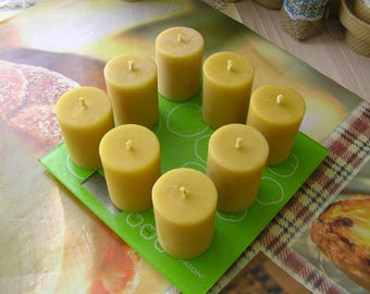 100% beeswax votive candles