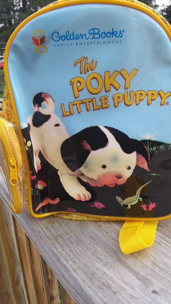 Vintage Childrens Backpack The Poky Little Puppy The Etsy