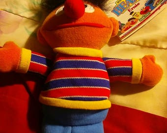 vintage sesame street beans 1997 features a tag that reveals the birthday and cute little bio on the character 30 year anniversary ernie