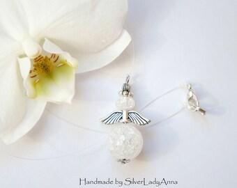 Snow Angels Tulip Necklace Flower Garden with Jablonex Pearls