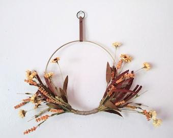 Fall Hoop Wreath, Indoor Wreath, Gallery Wall, Gallery Wall Wreath, Modern Fall Wreath, Wreaths, Wall Gallery Decor, Hoop Wreath, Hoop Art
