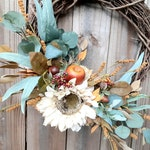Fall Wreath, Autumn Wreath, Year Round Wreath, Sunflower Wreath, Fall Decor, Fall Home Decor, Farmhouse Fall Decor, Farmhouse Decor, Wreaths
