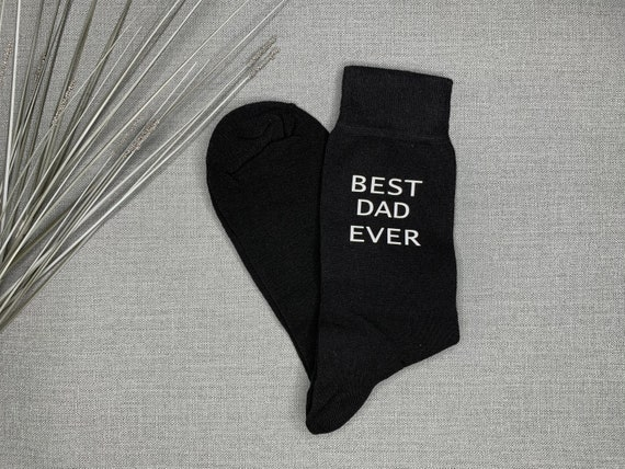 Best Dad Ever Socks~Personalised Dad Socks~Father/'s Day Gift~Present for Dad~Gift for Daddy~Dad/'s Birthday present~Custom Cotton Socks