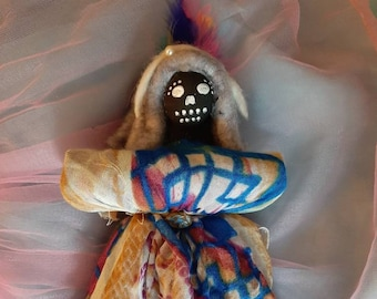 poppet creative spirit dance arts creative energy art doll non gender Authentic lovely one of a kind Voodoo Doll real