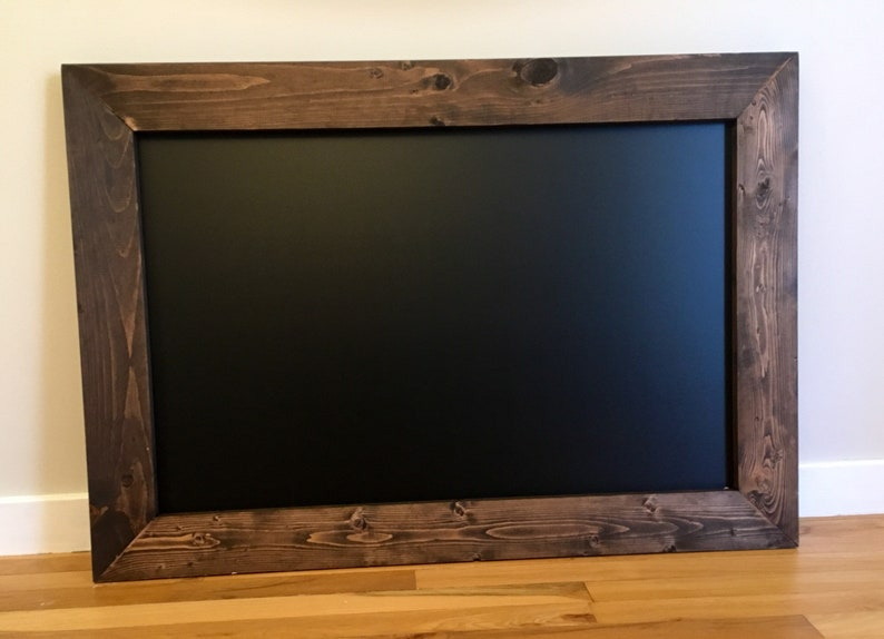 Rustic Wood Framed Chalkboard  Farmhouse Chalkboard  Wedding image 0