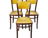 Set of 3 Vintage 1920 39 s Fischel Bentwood Cafe Chairs Thonet Bentwood Style