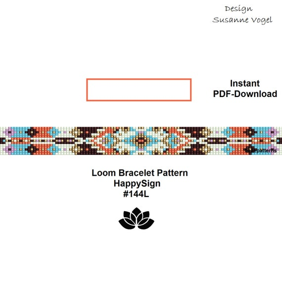 Loom Bracelet Pattern Pdf Download Diy Beading Tutorial