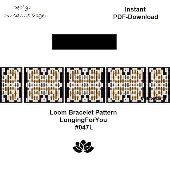 loom bracelet pattern,pdf-download,DIY,#079L,cuff bracelet pattern,loom beading pattern,beading tutorial,square stitch,loom pattern,