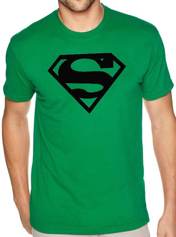 Superman Symbol T Shirt Comic Logo Dc Cool Superhero Tee Etsy