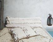 xl moroccan wedding blanket pillow, handira pillow, boheme, boho chic, wedding gift idea, wedding decoration, bohemian modern, boho