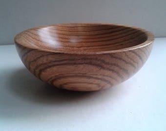 Zebrano Wood Bowl E228