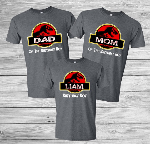 Personalized Jurassic World And Park Birthday Shirt Family Set