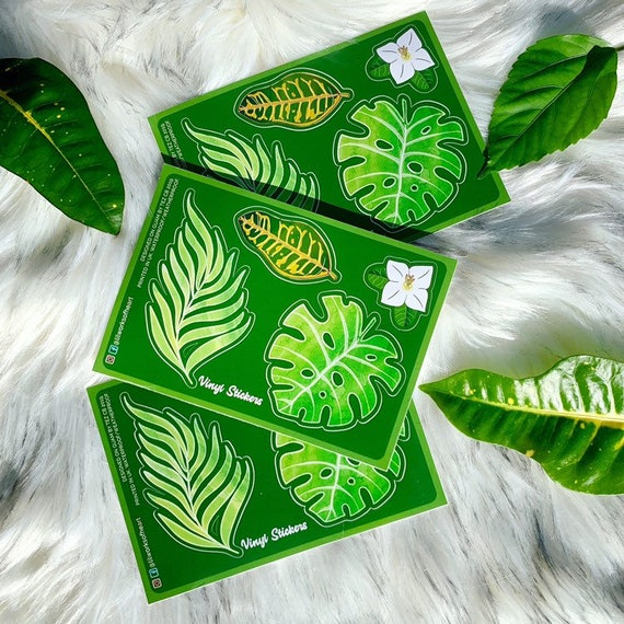 Waterproof Tropical Leaves Stickers Bumper Or Laptop Etsy ✓ free for commercial use ✓ high quality images. etsy