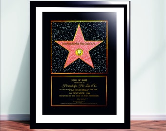 HOLLYWOOD Movie Night Party Decor Peel N Place Floor STAR CLING Walk of Fame