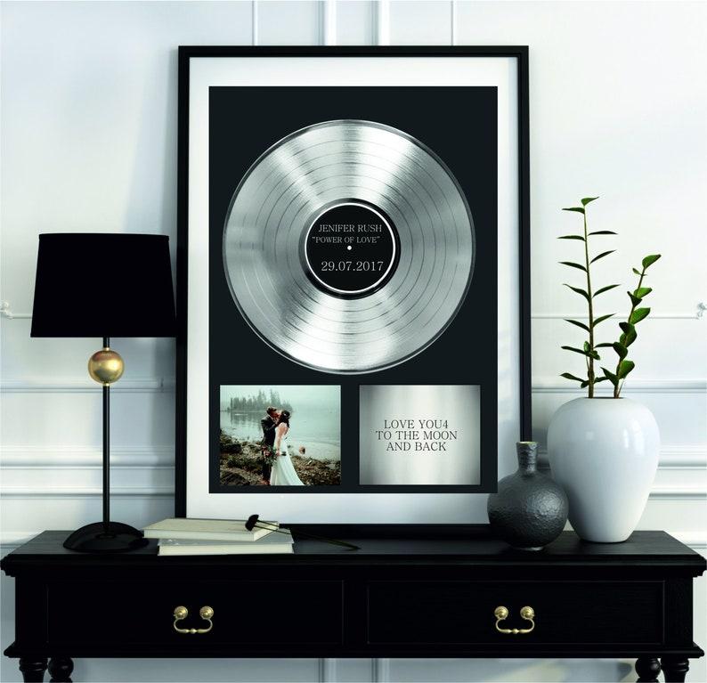 Framed Song Lyrics, Music Award, Song lyrics Print, Personalized Gift,  Wedding Gift, Vinyl Record Art Print, Custom Vinyl Record Plaque