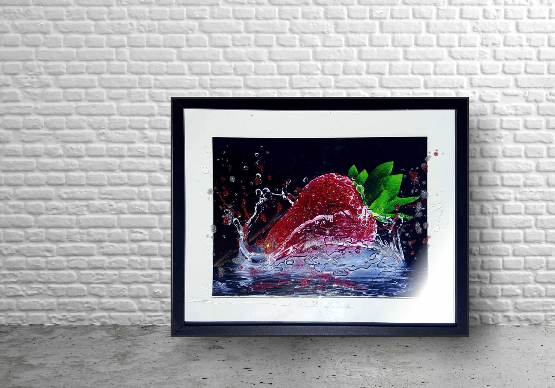Erdbeere Küche Dekor Obst-Küche moderne Bauernhaus