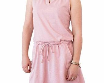 Short pink dress, cotton dress, pink short dress, casual dress, pink dress, cotton dress, short pink dress, summer dress