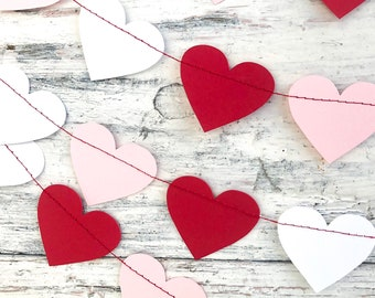 Valentines Day Decor Heart Banner Garland Gift Home Love