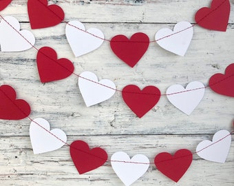 Heart Banner Garland Valentines Day Gift Home Decor Love Backdrop