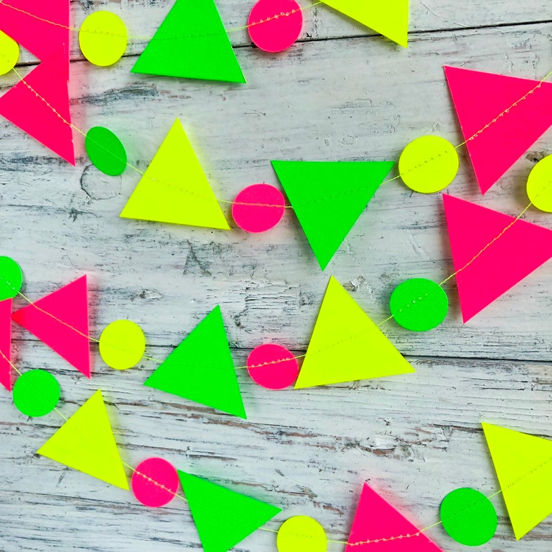 Neon baby shower Neon party supplies Neon backdrop Neon party garland Neon glow party decor Neon party decorations Glow garland