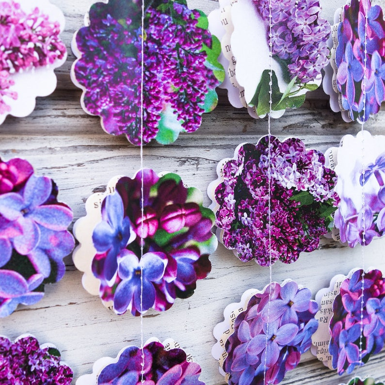 1663e860473 Purple wedding garland Lilac garland Lilac wedding decor