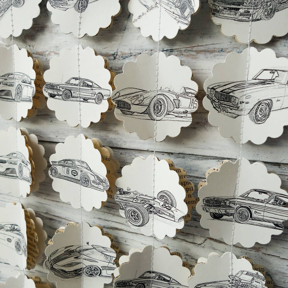 Cars Garland Cars Party Decorations Auto Garland Cars Baby Etsy