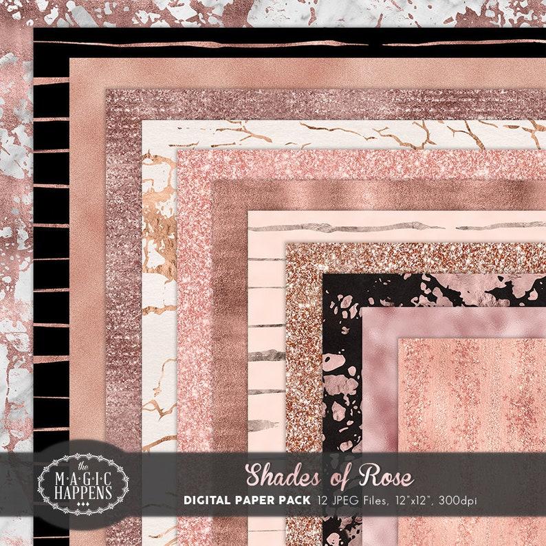Carta Digitale Oro Rosa Rosegold Foil Blush Rosa Glitter Etsy