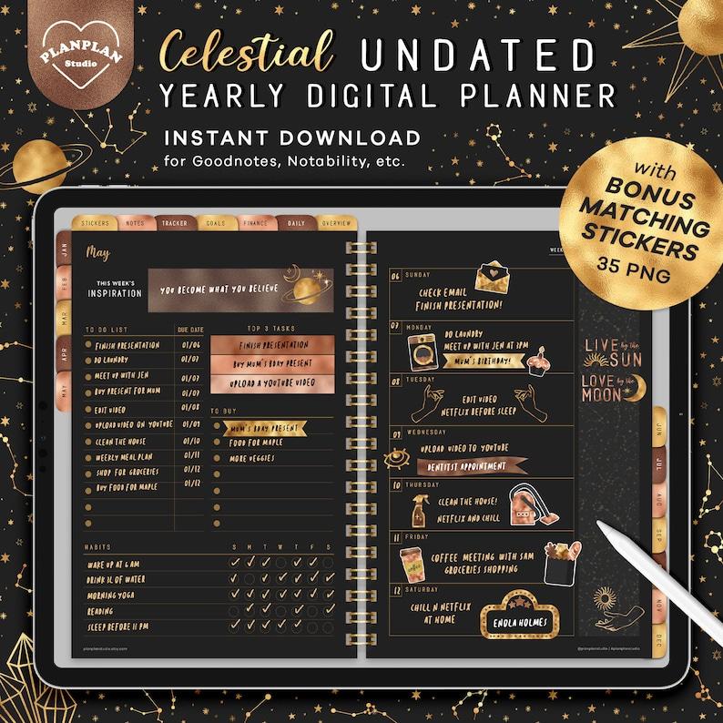 Celestial Digital Planner iPad Planner Goodnotes Planner in image 0