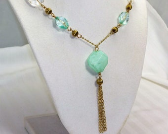 Light Aqua Shimmer and Shine Necklace