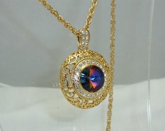 Swarovski Volcano Shiner Necklace