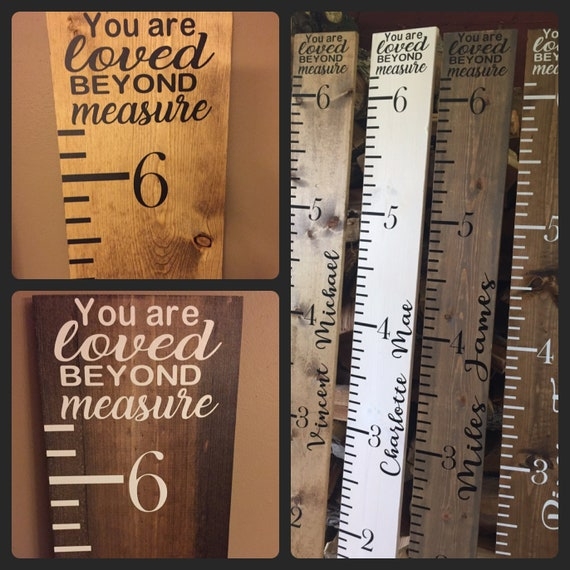 Growth Chart Ruler Giant Wooden Growth Ruler Measuring Etsy