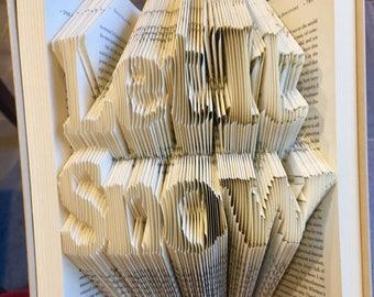 Let It Snow Folded Book Art