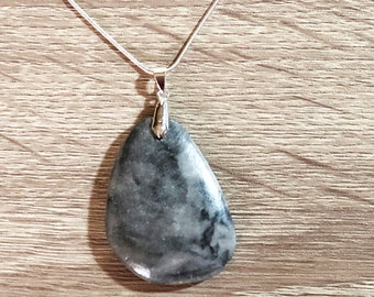 Marble Necklace, Gemstone Pendant Necklace, Natural Stone Necklace, Raw Crystal Necklace, Stone Necklace, Gemstone Necklace