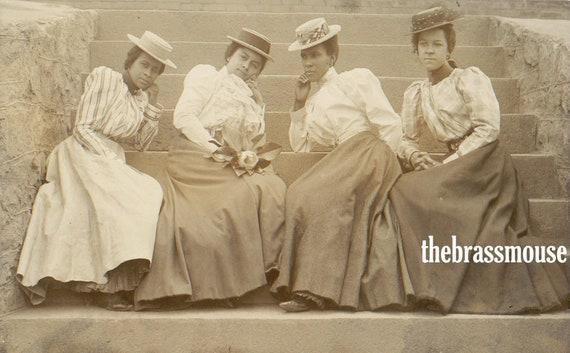 Edwardian African American College Women Sorority Group Instant Digital Vintage Photo Download Scrapbook Collage Junk Journal Black History