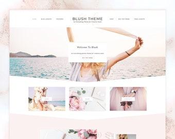 SALE Blush - Feminine WordPress Theme. Genesis Child Theme. Shop Theme. WooCommerce. Portfolio Theme. Photography. Responsive Design